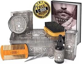 Viking Revolution Beard Care Kit for Men - Ultimate Beard Grooming Kit includes
