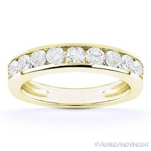 Forever ONE D-E-F Round Cut Moissanite 14k Yellow Gold Anniversary Weddi... - €795,10 EUR