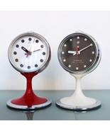 FIVE RAMS Alarm Clock UNUSUAL Top! Mid Century Chrome Rare Pedestal Spac... - $225.00