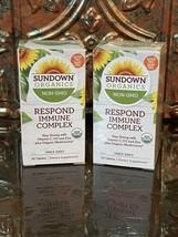 2X,Sundown Organics Respond Immune Complex Vitamin C, D3 & Zinc 30 Tab, EXP 6/22 - $18.79