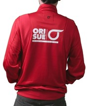 Orisue Mens Red Finisher Polyester Zip Up Track Jacket 1005030 XL 2X 3X 4X NWT image 2