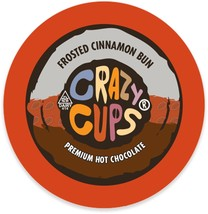 Crazy Cups Frosted Cinnamon Bun Hot Chocolate 22 to 88 K cups Pick Any S... - $24.99+