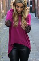 Fashion Women O Neck Irregular Long Sleeves Loose Causal T shirt Top Blouse