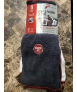 Platinum Series 6-PACK CORAL FLEECE BUFF & POLISH CLOTH TOWEL Lint Free ... - $16.82