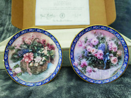 """The Bradford E By Lena Liu Miniature Plate Collection """"Roses And Begonias"""" - $31.79"""
