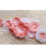 Pink maternity belt Sash Bridal Floral Flower sash Photo prop Baby showe... - $42.00