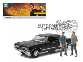 Supernatural 1967 Chevrolet Impala Sedan & Sam & Dean Figures 1:18 Dieca... - $94.95