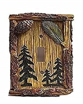 Pine Tree Single Light Switch Plate Cover Resin Home and Cabin Decor New - $13.85