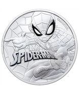 2017 1 oz Tuvalu Spiderman Marvel Series Silver Coin .9999 Fine Silver F... - $34.75