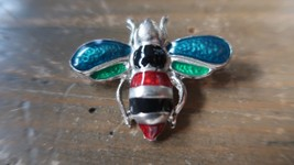 Vintage Bee Enamel Brooch Pin 3.5cm - $17.81