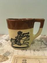 Vintage Holt Howard Stoneware Coffees Mug Ovenproof Fox Hunt Horse DesIgn  - $10.00