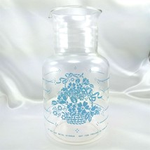 Pyrex 7520 Blue Cornflower Country Basket Vintage 2 qt Carafe Pitcher - $19.95