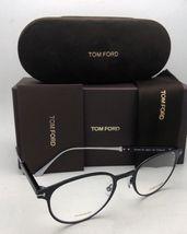 New TOM FORD Classic Eyeglasses TF 5482 001 50-21 Black & Silver Titanium Frames image 10