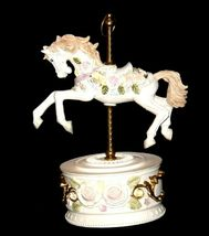 Horse Carousel Music Box (1980's) Works AA18-1631 Vintage image 3