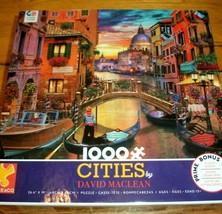 Jigsaw Puzzle 1000 Pcs Venice Italy David Maclean Cities Gondolas Canal ... - $16.82