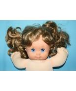 "Vtg 1989 Mattel Magic Nursery Baby Doll 13"" Cloth Vinyl Brunette Hair Blue Eyes - $33.83"