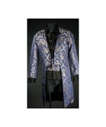 NWT Men's Blue Brocade Steampunk Victorian Goth Vampire Tailcoat Jacket - $149.99