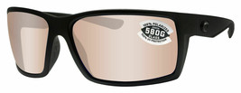 Costa Del Mar Reefton Blackout Frame Copper Silver Mirror Glass Polarize... - $256.41