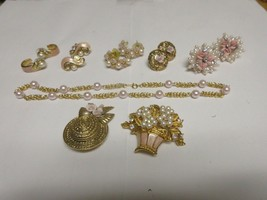 Costume Jewelry ,Vintage , TRIFARI , Neck , Ear , Pin - $94.05