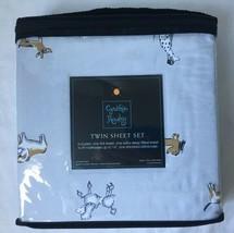 Cynthia Rowley Dog Puppy Sheet Set X-Deep Dachshund Poodle Dalmatian Twi... - $39.95+