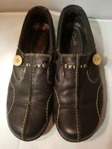Clarks Bendables Women's Shoes Comfort Sixty Delta Black Leather Slip-On 7M - $27.73