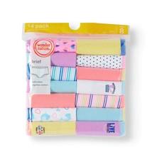 Girls Size 6 Brief Panties 14-Pack Tagless Cotton    - $12.86