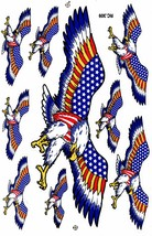 D366 Eagle Wing Bird Sticker Decal Racing Tuning Size 27x18 cm / 10x7 inch - $3.49