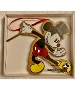 VINTAGE Disney MICKEY MOUSE with TOP HAT Kurt Adler Wood Ornament **NEW ... - $21.99