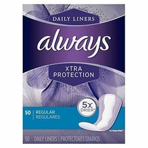 Always Xtra Protection Regular Daily Liners 50 ea (Pack of 2) - $14.84