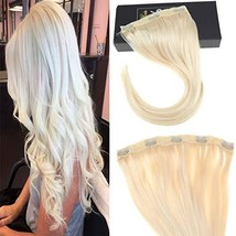 "Sunny 18"" One Piece 5 Clips Hair Extensions Clip in Remy Hair 70g 3/4 Full Head"