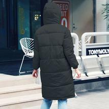 New Women's Casual Hooded Long Soft Quilted Down Zip Up Coat Outwear image 6