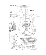 Fender Electromagnetic Pickup For Lute-type Musical Instrument Patent Print - Wh - $7.95 - $40.95