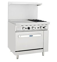 Atosa ATO-24G2B 36'' Gas Range. (2) Open Burners and 24'' Griddle on the LEFT wi - $1,784.00