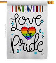 Live with Love - Impressions Decorative House Flag H192461-BO - $36.97