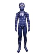 kid Spiderman Costume Cosplay Jumpsuit Superhero Full Body Zentai Suit - $37.65