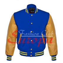 Varsity Premium Wool Letterman College  Jacket with Real Leather Sleeves XS-4XL - $87.00