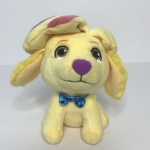 "Sunny Day Show Dog Doodle Plush Yellow 6"" Sitting Colorful Stitchings 2017 - $14.84"