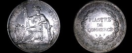 1924-A French Indo-China 1 Piastre World Silver Coin - Vietnam - $169.99