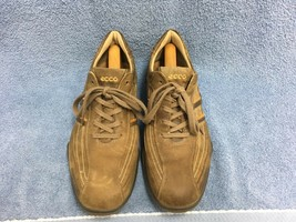 Ecco Brown Leather Casual Lace Up Oxfords Sneakers Shoes Men's 9-9.5 US ... - $47.21