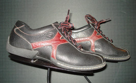 BORN Black Leather Derby Casual Cool Oxford Sz 37.5/7.5 US MINTY! - $33.40