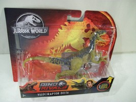 NEW JURASSIC WORLD DINO RIVALS VELOCIRAPTOR DELTA DINOSAUR ACTION FIGURE... - $14.65