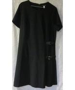Venus Black Buckle Detail Pleated Dress  Size 14 - $28.45