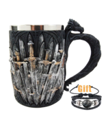 Game of Thrones Mug Goblet Stainless Steel Resin 3D Tankard Cup 2 - $24.20