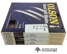 "Olson Band Saw Blades 67"" inch x (3) Widths Set, Ryobi BS1001SV, Tradesm... - $42.99"