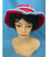 Handmade Crochet Fun Sun Hat with Peek-a-Boo Dalmatian Dog - $27.00