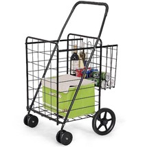 Jumbo Basket for Grocery Laundry Travel w/ Swivel Wheels - £61.09 GBP