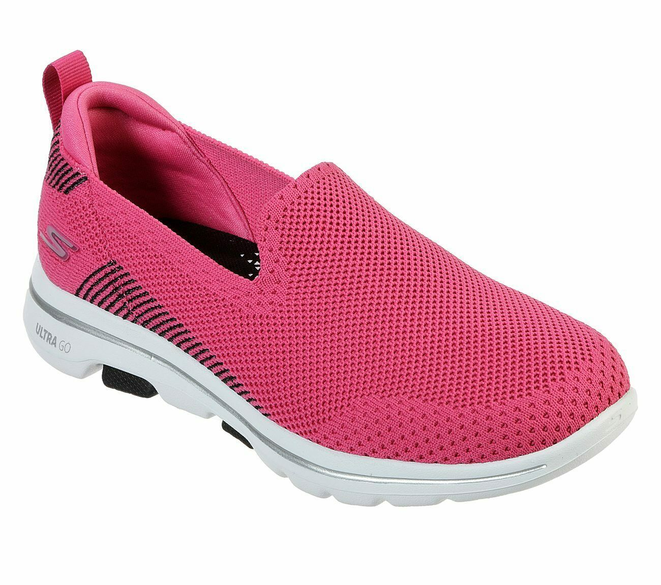 Skechers Shoes Pink Black Go Walk 5 Women's Casual Slip On Comfort Sporty 15900 image 1