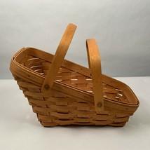 Longaberger Basket 1991 Vegetable Two Movable Handles Classic Stain Cottagecore - $25.00