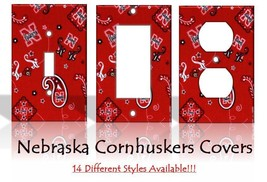 Nebraska Cornhuskers #2 Light Switch Covers Football NCAA Home Decor Outlet - $6.89+