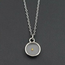 ⛵ Silver Stainless steel Mustard Seed Necklace Pendant Round Shape - $11.29